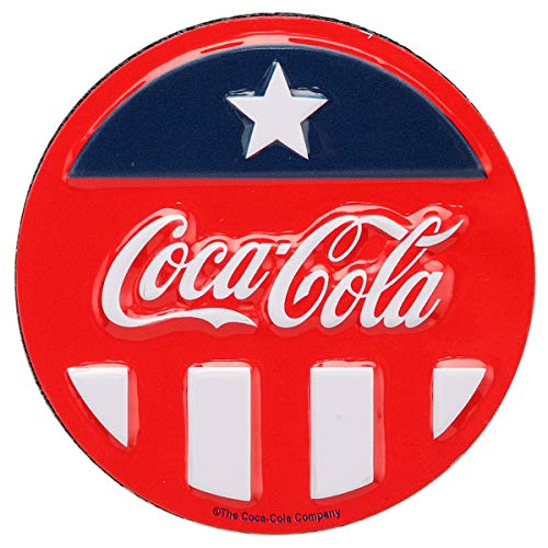 Open Road Brands Coca-Cola Captain America Vintage Style Tin Magnet - Coca-Cola Officially Licensed Product - Perfect Size for Your Refrigerator