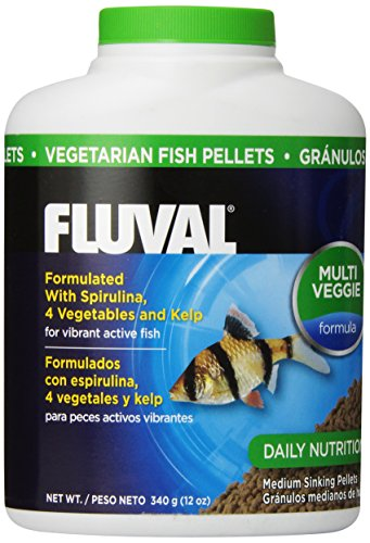 340gm Fluval Vegetarian Pellets Fish Food, 12-Ounce