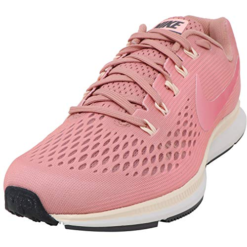 Nike Women's Air Zoom Pegasus 34 Running Shoe, Rust Pink Tropical Pink 606, 6.5