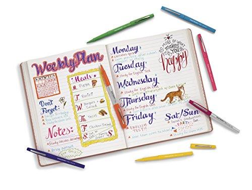 Papermate Flair Porous Point Stick Free-Flowing Liquid Pens, Blue Ink, Ultra Fine Point, Dozen, DZ - PAP8310152 Photo #9