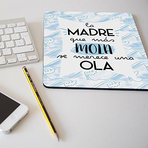 APRIL Nueva Alfombrilla para ratón Regalo Original día de la Madre La Madre Que más Mola se Merece una Ola