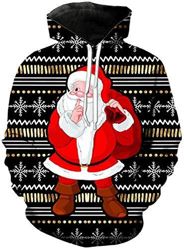 yyqx container 3D Sweatshirt Hoodie Kerstmis Unisex 3D Printed Hoodies Lange mouwen Streetwear Koppels Pullover met Grote Pocket en Trekkoord Unieke Sweatshirts
