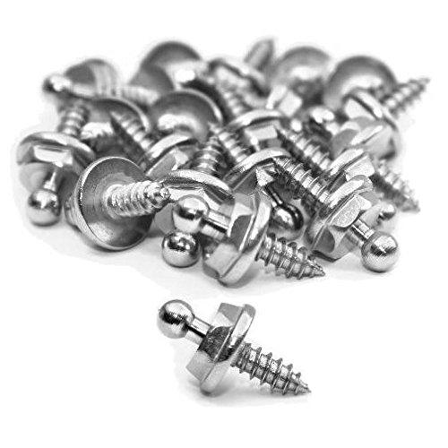 20 Stück Edelstahl Druckknopf Unterteil Blechschraube passend f. Loxx Abdeckplanne Persenning