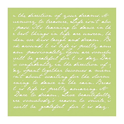 Kaisercraft Plantilla de diseño de la Escritura, Verde