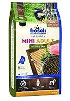 ボッシュ ミニアダルトチキン&キビ 10ヶ月以上 通常活動レベルの小型成犬用総合栄養食 全犬種用 小粒 ハイプレミアム ドッグフード 1kg