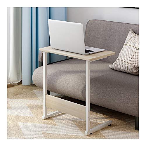 Mesa con Ruedas para Cama Mesa Auxiliar for Cama O Silla, Alfombrilla Antideslizante, Se Puede Colocar Junto A La Cama (Color : Maple Color)