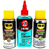 WD-40 Specialist Electronics Maintenance Trio, with Contact Cleaner, Gel Lube, and 3-IN-ONE PTFE Lubricant