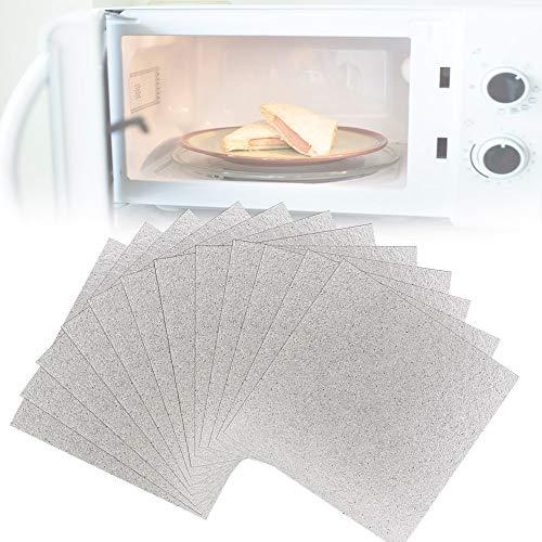 OLRWSLG 12 Stück Glimmerplatte Blatt Mikrowelle Glimmerscheibe Mikrowelle Ersatzteile Zuschneidbar Hohlleiterabdeckung Blätter Mikrowelle Glimmer Blatt - 13 * 13cm