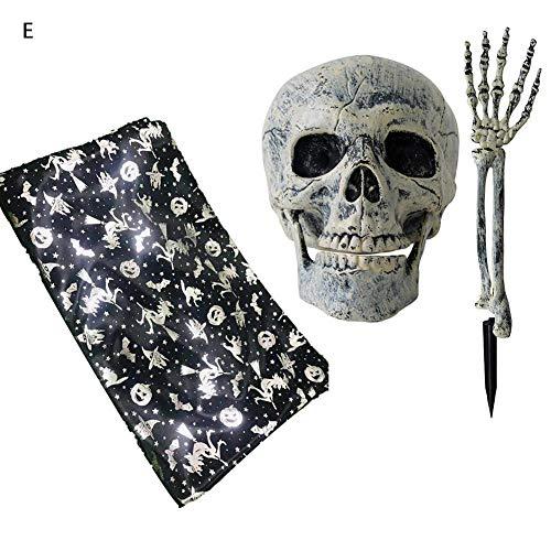 Manchetslee Halloween Props Halloween Skeleton Handen Horror Sjaal Tafelkleed Decoratie Plastic Levensechte Schedel En Hand DIY Huis Tuin Voor Haunted House Cemetery Rol Spelen