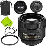 Nikon AF-S NIKKOR 85mm f/1.8G Lens Base Bundle USA...