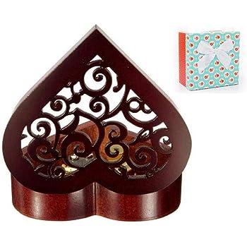 Cuzit - Caja de música de madera con forma de corazón, regalo para Navidad, cumpleaños, día de San Valentín, aniversario de boda, día de la madre: Amazon.es: Juguetes y juegos