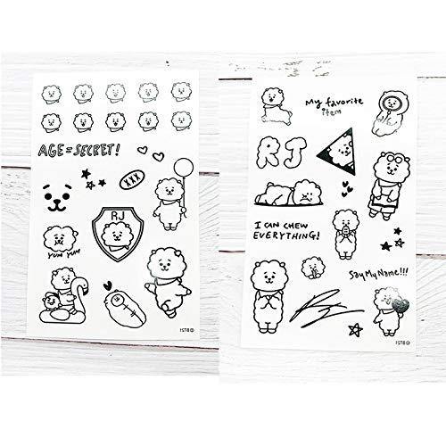 tzxdbh 10pcs-Costume de Bande dessinée Autocollants de Tatouage Autocollants 10pcs- 5