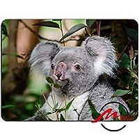 ZMviseかわいいコアラ背景ファッション漫画マウスパッドマットカスタム四角形ゲームマウスパッド