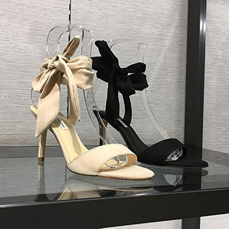 ZHANGYUSEN Paar Bogen, Einfache High Heels, Dünne Schuhe, Sommer Strap Sandals.