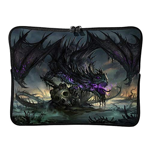 Regular Purple Dragon Laptop Bags Multifunctional Unique Tablet Cases Suitable for Work White 12 Zoll