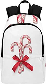 Christmas Lollipop Dessert Casual Daypack Travel Bag College School Backpack for Mens and Women