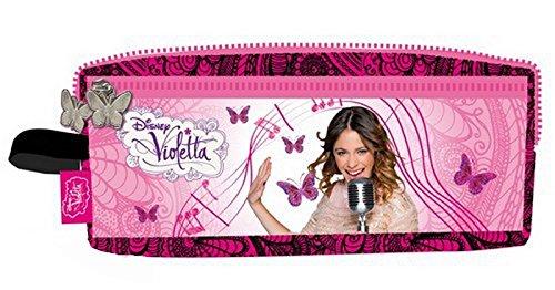 Violetta - Estuche con 2 compartimentos, color morado