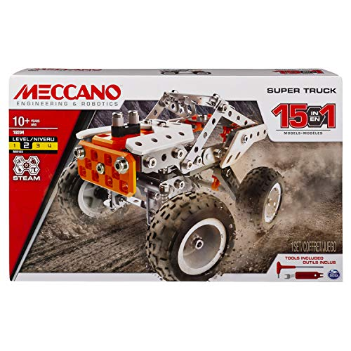 MECCANO – 6052632 – Baukasten – Super Truck 15 Modelle