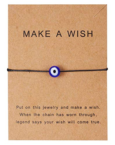 Sadingo Evil Eye, Make a Wish Bracelet avec chaîne Nazar Bon