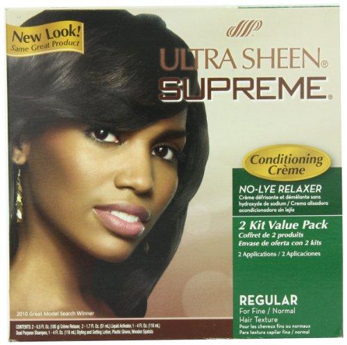 Ultra Sheen Supreme No Lye Regular Relaxer Kit, Value Pack,