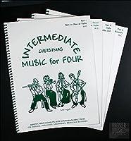 バイオリン(1,2) ビオラ チェロ やさしい弦楽四重奏(カルテット) クリスマス曲集