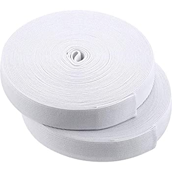 White Knit Elastic Spool for DIY Projects  3/4 Inch x 22 Yard