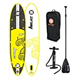 Zray Inflatable Paddle Board Stand Up SUP Comes with Adjustable Aluminum Paddle/High-Pressure Pump with Gauge/Big Durable Backpack (FS7)