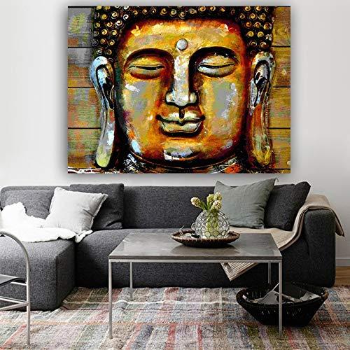 Poster Wandkunst Buddha Poster und Drucke Leinwand Malerei Wandbilder für Wohnzimmer Home Decoration No Frame