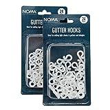 Noma - Crochets pour guirlandes de Noël 48 - 2 Packs blanc