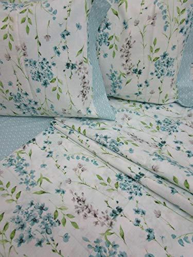 Pago Poco Novita !! Bettwäsche-Set für Einzelbett, französisches Bett mit 2 Kissenbezügen, wasserfest, 100% Baumwolle, Perkal !