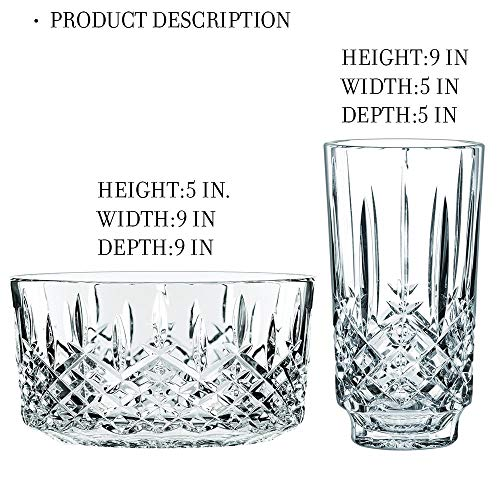 Waterford Markham Bowl and Vase 9 in. (2 Piece Bundle)