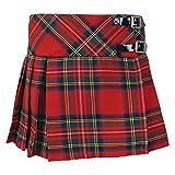 Tartanista - Jupe en tartan - pour fille - sangles en cuir au niveau des hanches - Royal Stewart - 6 ans | 31,7 cm L 27,9 cm (22,5x11)