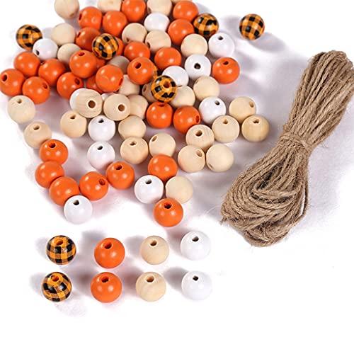zhangaoyo Cuentas redondas de madera de 16 mm de colores lisos pintadas sueltas redondas bolas espaciadoras de madera para decoración de fiestas en el hogar