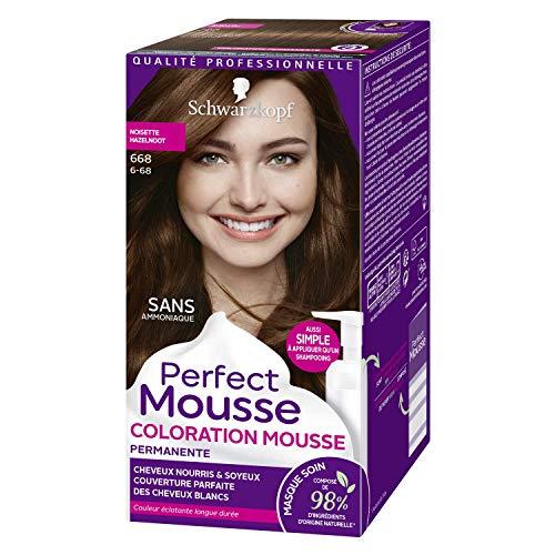 Schwarzkopf - Perfect Mousse - Coloration Cheveux - Mousse Permanente sans Ammoniaque - Noisette 668
