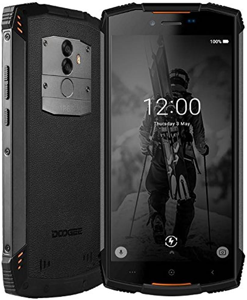 Doogee s55 smartphone 5,5 pollici  android 8.0, ip68 impermeabile/antipolvere, carica rapida della batteria S55 ORANGE-