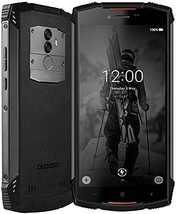 DOOGEE S55-5.5 Pulgadas (relación 18: 9) Android 8.0 Smartphone al Aire Libre, IP68 Impermeable Antipolvo Antigolpes, Carga rápida de la batería 5500mAh, Octa Core 4GB + 64GB - Naranja