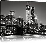 New York City Skyline bei Nacht Format: 120x80 cm auf