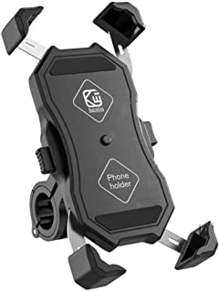 Bike Phone Holder 360 Rotation/Motorcycle Mobile Phone Stand Mechanical Linkage Design Auto-Scaling Mountain Bicycle Acces...