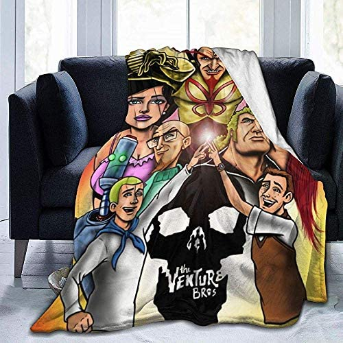 NotApplicable Blanket The Venture Bros Fleece Blanket Ultra-Soft Bed Teen 3 Size Boy Throw Blanket Couch Warm All Season Adults Kids Girl 204X153cm