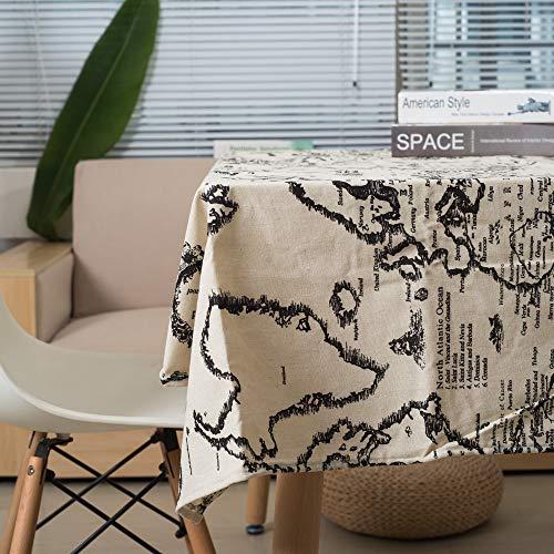 Hanggg Tafelkleed Wereldkaart Bedrukt Katoen En Linnen Tafelkleed Multifunctionele Koffie Tafeldoek Cover Handdoek