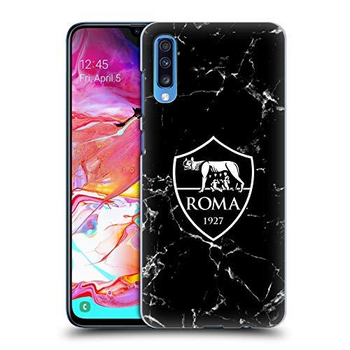 Head Case Designs Licenza Ufficiale AS Roma Marmoreo Cresta Cover Dura per Parte Posteriore Compatibile con Samsung Galaxy A70 (2019)