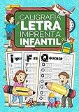 Caligrafía Letra Imprenta Infantil: Cuaderno de caligrafía con letra de imprenta para niños - Mayúsculas y minúsculas con pauta Montessori - Ideal para aprender a repasar y escribir