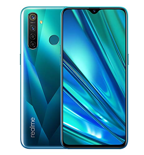 Realme 5 Pro Smartphone 8GB RAM + 128GB ROM, Pantalla de 6.3'' IPS, procesador Octa-Core, 16MP Frontal y 48MP Cuádruple Cámara, Dual Sim, Crystal Green (Verde)
