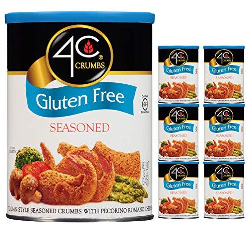 4C Premium Bread Crumbs | Regular & Gluten Free | Flavorful Crispy Crunchy | Value Pack (Gluten Free - Seasoned, 6pk)