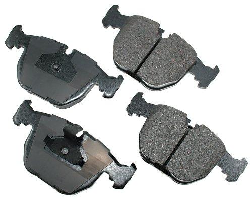 Akebono EUR681 Euro Ultra Premium Ceramic Disc Brake Pad Kit, GREY
