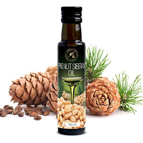Aceite de Cedro Puro 100ml Extra Virgin - Prensado en Frío - 100% Puro & Natural Aceite de Nuez de Pino de Cedro Siberiano - Aceite de Nueces de Cedro - Cedar Nuts Oil - Botella de Vidrio