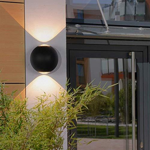 Wandlamp, LED, creatief, wandverlichting, woonkamer, eetkamer, slaapkamer, hoofdeinde, wandlamp, wandlamp van aluminium, decoratie, buitenverlichting, binnenverlichting, 12 cm, hoogte 10 cm, 6 W, warmwit licht