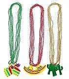 21PCS Cinco de Mayo Fiesta Necklaces Bead- Mexican Birthday Party Favors Supplies Decorations