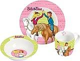 Bibi & Tina Frühstücksset Freunde 3tlg. Porzellan 3-teiliges Porzellanset, Bunt, 22,5 x 9,5 x 19,5 cm, 3-Einheiten