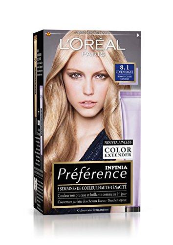 L'OREAL - Coloration - Préférence Infinia - 8.1 copenhague blond clair cendré